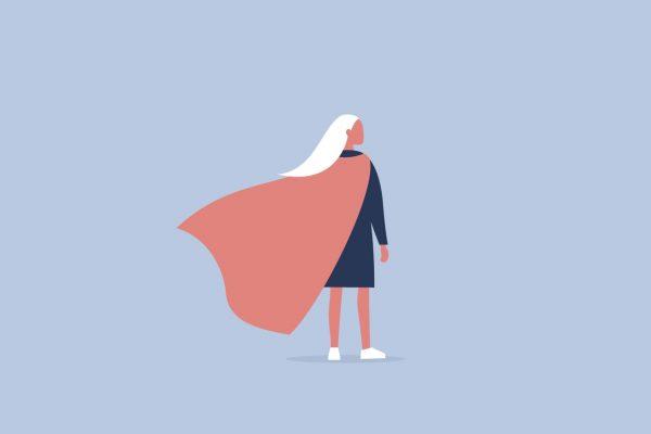 Women in a cape to represent brand trust