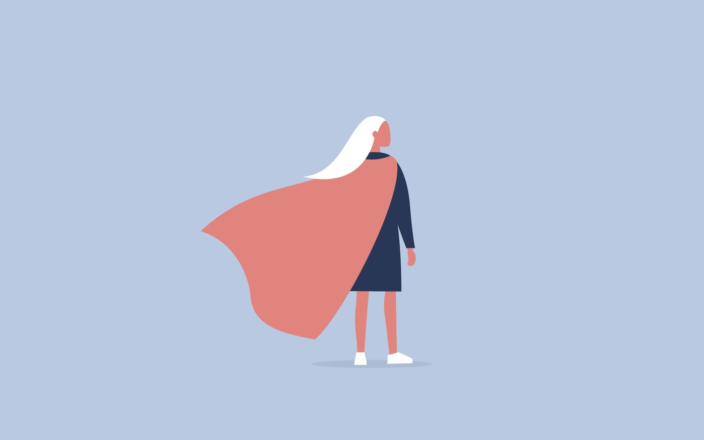 Women in a cape to represent brand trust