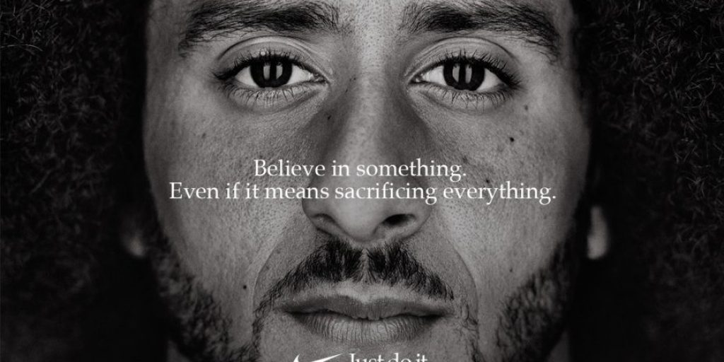 Nike ad showing brand authenticity